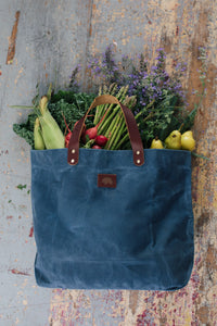 The 'Matilda' tote - Dusty Blue