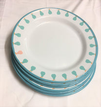 Enamel Plates - Set of 6 Blue Pear Plates
