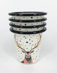 Enamel Tumblers - Set of 6 Deer