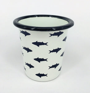 Enamel Tumblers - Set of 4 Fish design