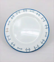 Enamel Plates - Set of 4 Horse Bit design