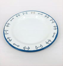 Enamel Plates - Set of 6 Horse Bit design