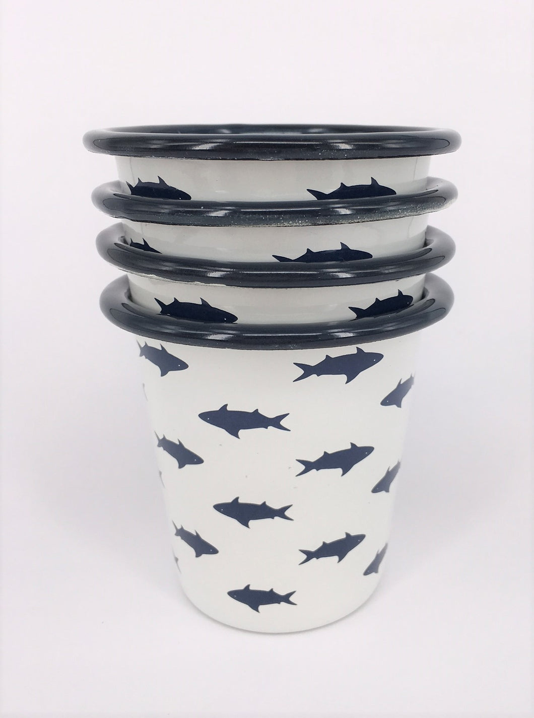 Enamel Tumblers - Set of 6 Fish design