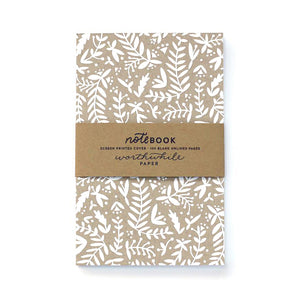 Worthwhile Paper - Kraft Nature Shapes Notebook