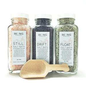 Being Restorative + Detoxing Salt Bath Trio Collection