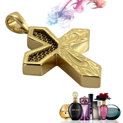 Perfume Cross Pendant by Austaras - Hawaiian Jewelry of Scent and Beauty
