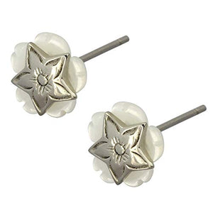 Austaras Hawaiian Flower Star Stud Earrings - Simply Beautiful