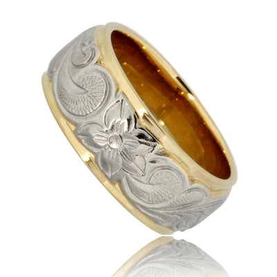 Hawaiian Ring by Austaras - Stainless Steel Rings for Men