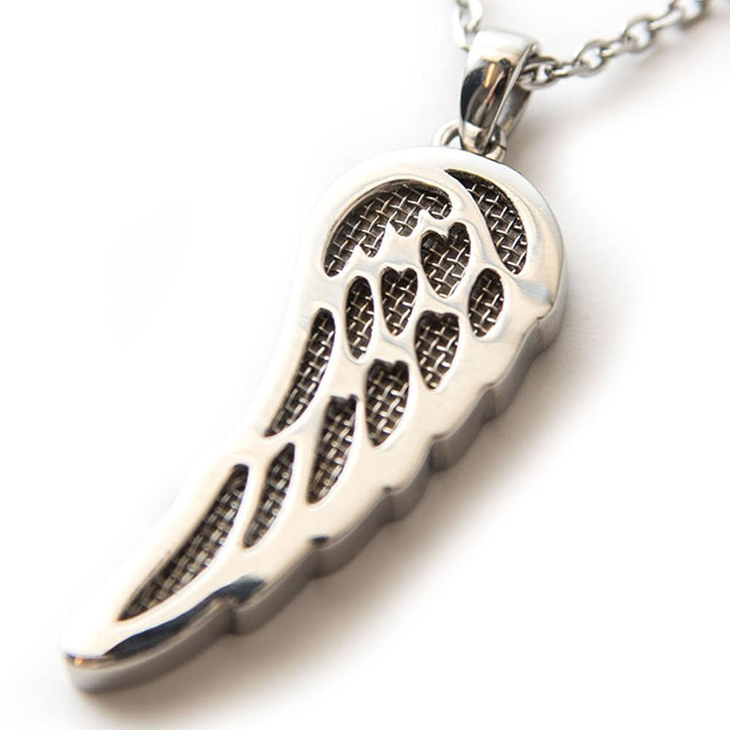 Angel Wing Perfume Necklace by Austaras - Aromatherapy Essential Oil Diffuser Pendant