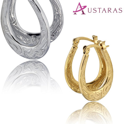 Hawaiian Hoop Earrings by ✦ Austaras ✦  Delicate Beauty Women Christmas gift for her