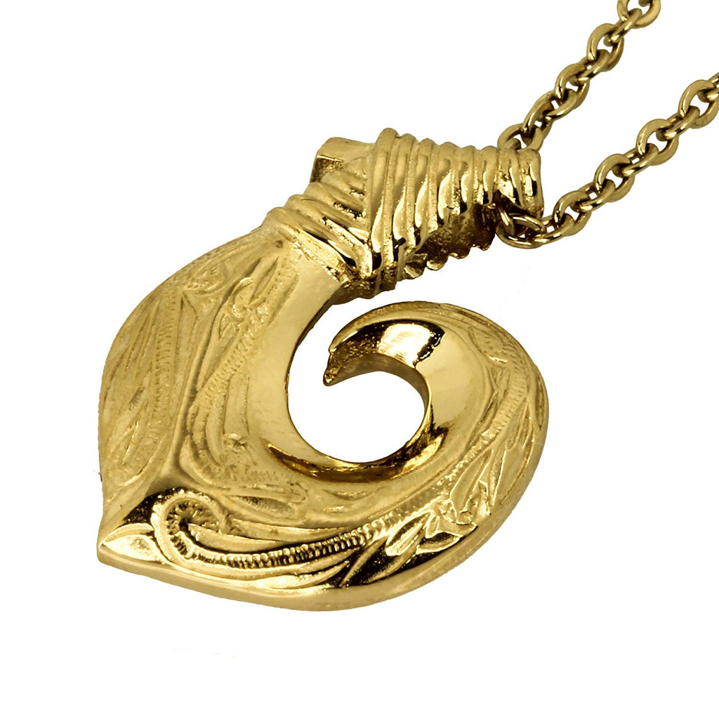 Hawaiian Fish Hook Pendant by Austaras - Strength and Prosperity Around Your Neck