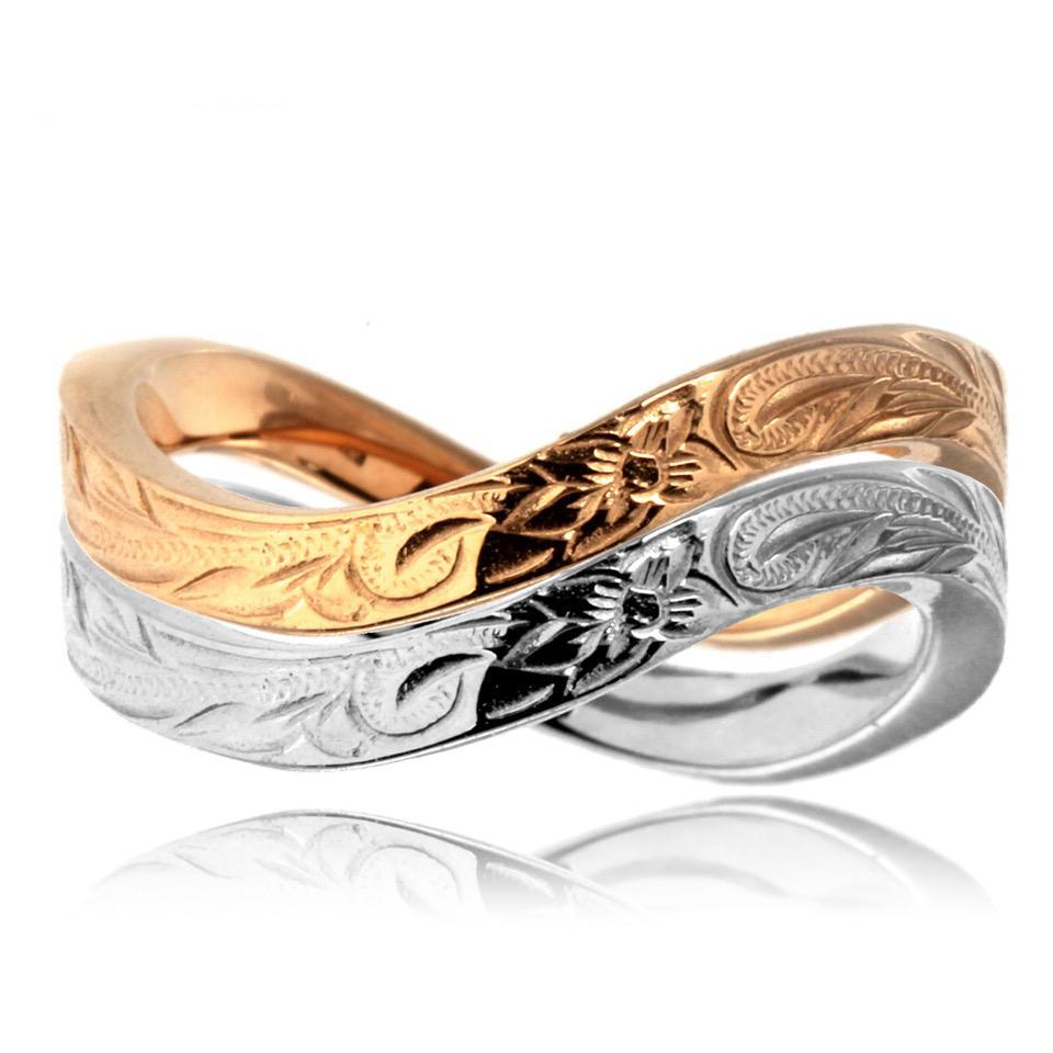 Māhālo Silver/Rose Stainless Steel Ring