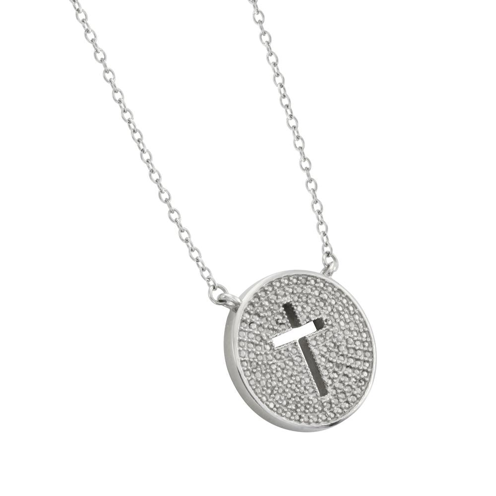 ✦Austaras✦ Silver Plated Cross Coin Pendant Necklace Unisex Christmas gift