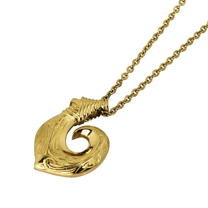 ✦Austaras✦ 14k Gold/ Silver Designed Hawaiian fish hook Pendant Necklace Unisex Christmas gift