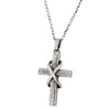 ✦Austaras✦ Silver Plated Infinity Cross Pendant Necklace Unisex Christmas gift