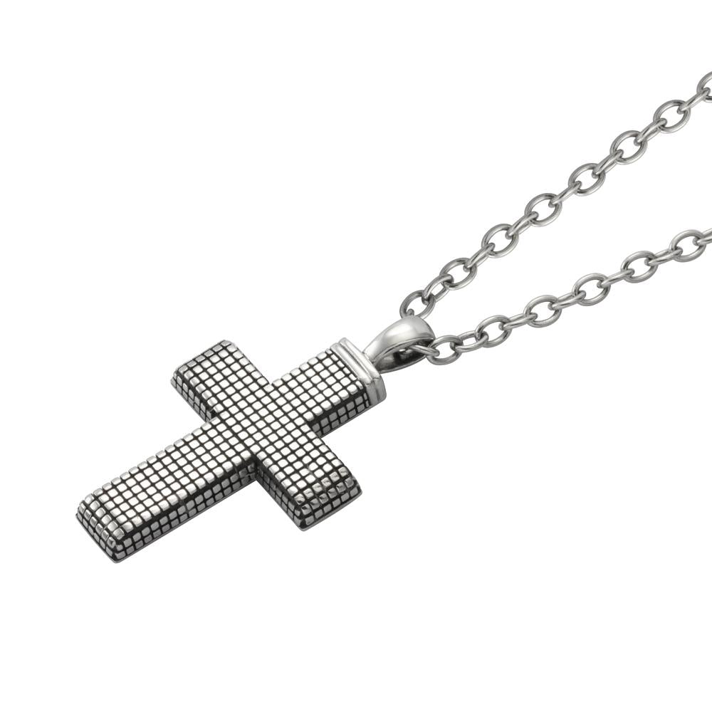 ✦Austaras✦ Silver Plated Cross Pendant Necklace Women Christmas gift For her