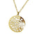 ✦Austaras✦ 14k gold plated Wild Round Pendant Necklace Women Christmas gift For her
