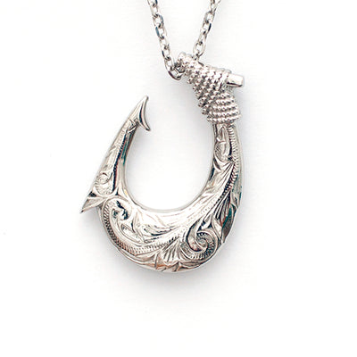 Hawaiian Fish Hook Necklace by Austaras - for Strength, Prosperity and Good Luck