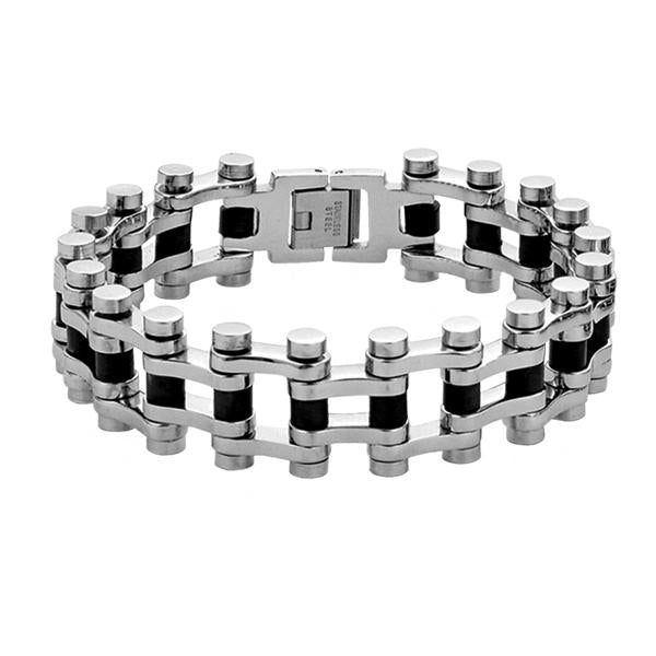 ✦Austaras✦ Silver Plated and Black Bracelet Unisex Christmas gift