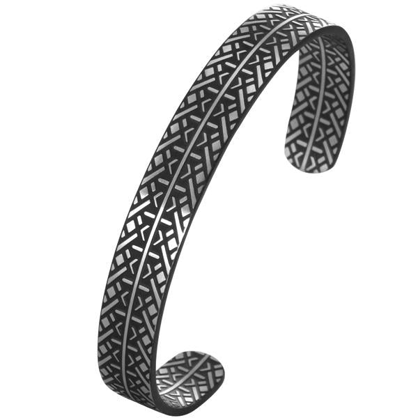 ✦Austaras Jewelry✦ Silver Plated and Black Bangle Women Christmas Gift for her