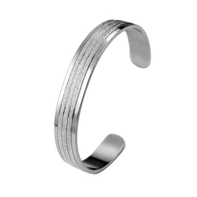 ✦Austaras Jewelry✦ Silver Plated/ Black Bangle Women Christmas Gift for her