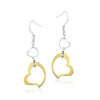 ✦Austaras Jewelry✦ 14k Gold and Silver Heart Drops Earrings Women Christmas Gift for her
