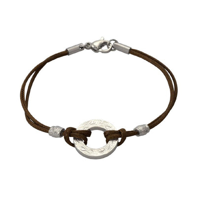 ✦Austaras Jewelry✦ Genuine Leather Bracelet 14k Gold and Light Brown / Steel and Dark Brown - Women Christmas Gift for her