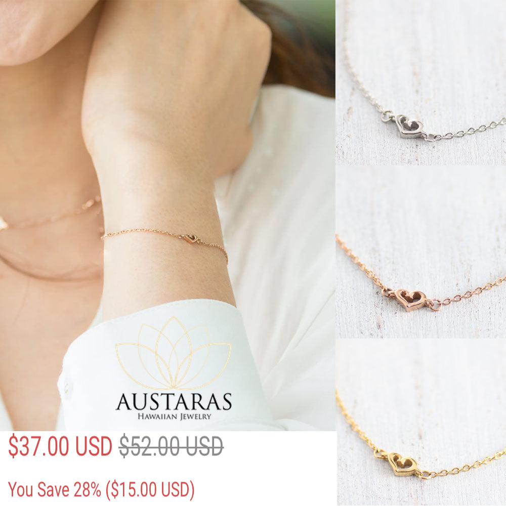 ✦Austaras Jewelry Fine Bracelet✦ 14K GOLD / ROSE-GOLD / STEEL  • Women • Christmas Gift for her
