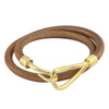 ✦Austaras Jewelry✦ Genuine Leather Bracelet •  14K GOLD / SILVER  •  BLACK LEATHER/BROWN LEATHER  • - Unisex Christmas Gift