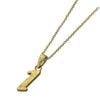 ✦AUSTARAS✦ 14K GOLD / SILVER PLATED Hawaiian carving numbers pendant (NO.1)