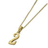 ✦AUSTARAS✦ 14K GOLD / SILVER PLATED Hawaiian carving numbers pendant (NO.2)