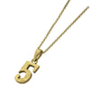 ✦AUSTARAS✦ 14K GOLD / SILVER PLATED Hawaiian carving numbers pendant (NO.5)