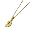✦AUSTARAS✦ 14K GOLD / SILVER PLATED Hawaiian carving numbers pendant (NO.9)