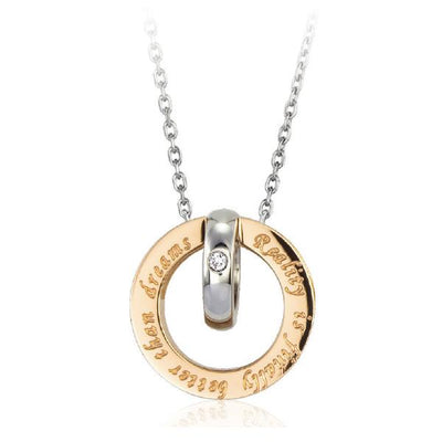 ✦Austaras✦ REALITY IS FINALLY BETTER THAN DREAMS Pendant Necklace Women Christmas gift For her
