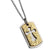 ✦Austaras✦ 14K Gold and silver Plated Cross Dog tag Pendant Necklace Unisex Christmas gift