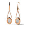 ✦Austaras Jewelry✦ Rose Gold and Crystal Drop Round Earrings Women Christmas Gift for her