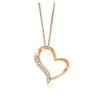 ✦Austaras✦ Rose gold and Crystal Heart Pendant Necklace Women Christmas gift For her