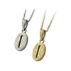 ✦AUSTARAS✦ 14K GOLD / SILVER PLATED Hawaiian carving numbers pendant (NO.0)
