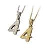 ✦AUSTARAS✦ 14K GOLD / SILVER PLATED Hawaiian carving numbers pendant (NO.4)