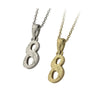 ✦AUSTARAS✦ 14K GOLD / SILVER PLATED Hawaiian carving numbers pendant (NO.8)