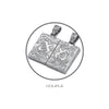 ✦Austaras✦ Turtle Silver Plated Quad Pendant Necklace Unisex Christmas gift