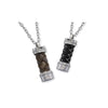 ✦Austaras✦ Silver and Brown/ Black and White Twist Pendant Necklace Unisex Christmas gift