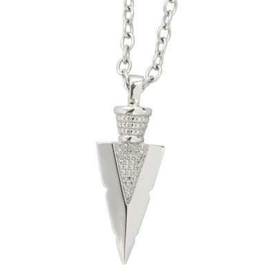 ✦Austaras✦  Silver plated Arrowhead Pendant Necklace Women Christmas gift For her