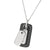 ✦Austaras✦ Designed Steel and Black Dog Tag Pendant Necklace Unisex Christmas gift