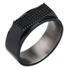 ✦Austaras Jewelry✦ Black Titanium Ring Unisex Christmas Gift