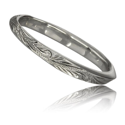 Stainless Steel Hawaiian Wedding Band Ring by Austaras