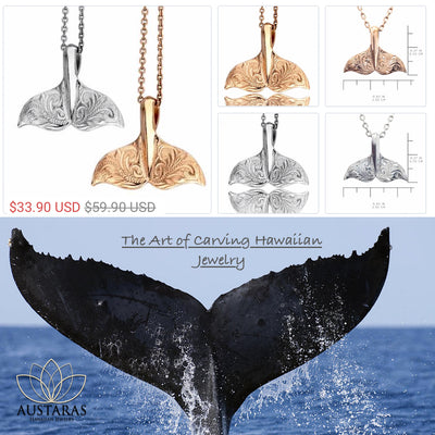 Hawaiian Whale Tail Pendant by Austaras - Protection Around Your Neck
