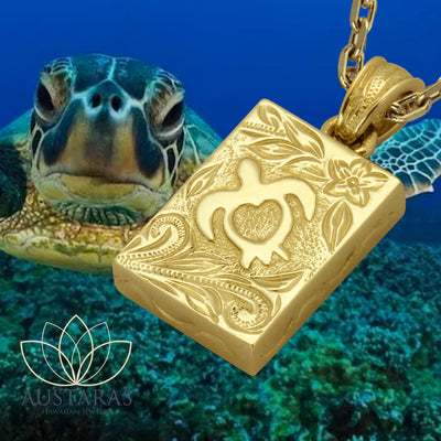 Austaras Turtle Necklace - Stainless Steel 14K Gold Plated Pedant