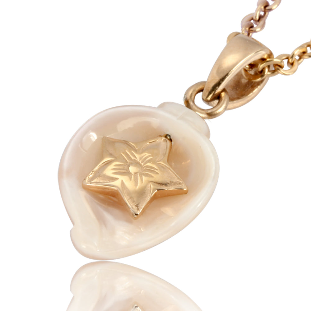 Austaras Seashell Necklace - Sea Star Pendant with Natural Seasheel