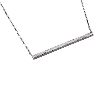 Austaras Hawaiian Bar Necklace - 925 Sterling Silver Plated Stainless Steel Pendant